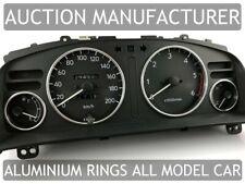 Toyota Corolla E11 1997-2002 Polished Aluminium Chrome Gauge Trim Rings 4pcs