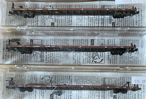 """N-Scale - Lot of 3 Microtrains 71040 89'-4"""" TOFC Flat Car"""