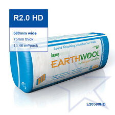 R2.0 HD | 580mm Knauf Earthwool® Acoustic Wall Insulation Batts