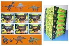 Serie completa 6 dinosauri Dinosaur World in resina tipo Schleich e Pafo