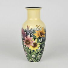 "Old Tupton Ware ""SUMMER BOUQUET"" Hand Painted Tube Lined VASE (8"") TW 1131"