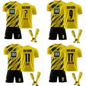 2021 Neu Fußball Trikot Kit Kinder/Erwachsene Tshirt shorts Socken Jersey Kit DE