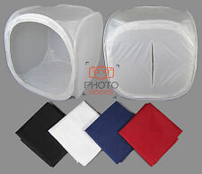 "Large 120cm / 47"" Photography Light Tent + 4 Backdrops - Box Cube Photo Studio"