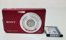 Sony Cyber-shot DSC-W180 10.1MP Digital Camera - Red *Fair/tested*