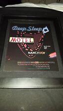 Nancy Boy Deep Sleep Motel Rare Original Radio Promo Poster Ad Framed!