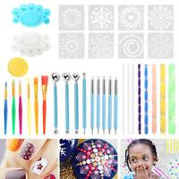 35pcs/Set Mandala Dotting Tools Rock Painting Kits Dot Art Pen Paint Stencil Pf