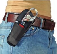 LEATHER BARTENDER/SERVER BOTTLE OPENER HOLSTER w/ WINE KEY LIGHTER POCKET