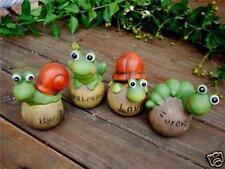 Set Of 4 Cartoon Animal Pottery Clay Tortorise Frog Snail Caterpillar Kids Gift
