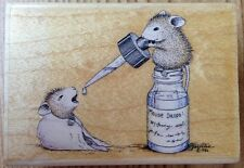 House Mouse Drops Rubber Stamp HMGR1006 Stampabilities Get Well Sick Mice