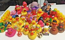 Over 50 Rubber Ducks / Duckies - Holiday Ducks, NY Yankees, Rockets, Hippie etc.