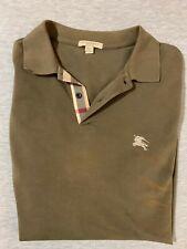 Burberry Brit Men's Short-Sleeve Pique Polo Shirt Nova Check Pattern Tan