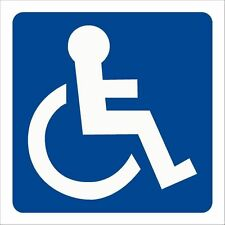 Aufkleber Behindert Rollstuhl Behinderten 6x6cm Behindertenaufkleber Auto Lkw