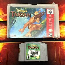 Disney's Tarzan N64 ( Nintendo 64 2000 ) In Hard Case w/ Box TESTED & WORKS
