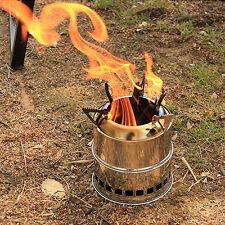 ASSOLO di acciaio inox stufa legna sopravvivenza Zaino in spalla luce da camping Cook