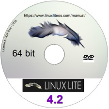 LINUX LITE 3.8 O/S 32 OR 4.2 64 bit DVD + Libre Office, Gimp + (or V2.0 on CD)