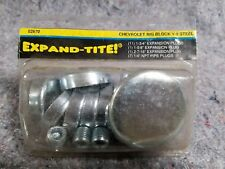 New Expand-Tite Steel Expansion Plugs Chevy Big Block V8 1964-92 396 402 427 454