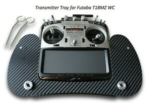 Transmitter Tray for Futaba T18MZ WC Carbon 3D Look