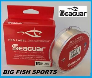 SEAGUAR RED LABEL Fluorocarbon Fishing Line 15lb/200yd 15 RM 200 FREE USA SHIP!