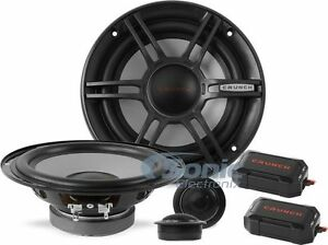 """CRUNCH 300W 6.5"""" 2-Way Shallow Mount Component Car Stereo Speaker System 