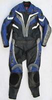 Sehr gut erhaltene BÜSE Motegi Gr. 50 Zweiteiler Lederkombi schwarz blau