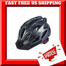 Adjustable Lightweight Bike Helmet Men & Women with Visor CARBON Black - Silver
