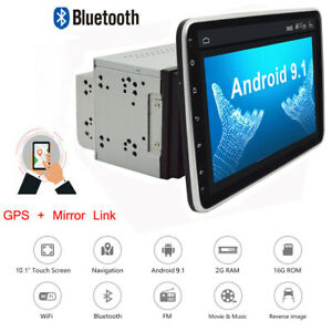 """10"""" Android 9.1 Double DIN In dash Car stereo Radio Player GPS Navigation WiFi"""