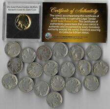 GREAT DEPRESSION Antique US Buffalo Indian Nickel Coin Collection Gold LOT:306
