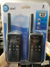 BRAND NEW Onn Walkie Talkie Long Range Up To 23 Mile 22 Channel (2 Pack)