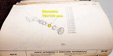 FIAT  697 - SPESSORE PONTE DIFFERENZIALE POSTERIORE -4639899