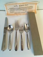 IMPERIAL FLATWARE 5 PIECE PLACE SETTING FORK KNIFE SPOON STAINLESS, VINTAGE