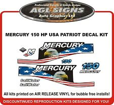 MERCURY 150 hp USA Patriot saltwater outboard Decal kit 115 175 200 225 250 hp