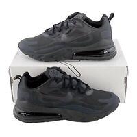 Nike Air Max 270 React Triple Black Men's Size 8.5 Sneakers Oil Grey AO4971 003