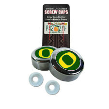 New NCAA Oregon Ducks License Plate Screw Caps / Bolt Cover By Stockdale