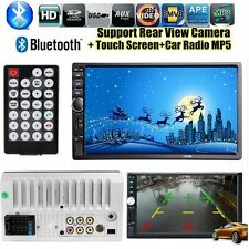 """7"""" Double 2DIN Car Stereo MP5 Player Bluetooth Touchscreen MP3 FM Radio USB SD"""