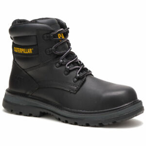 "CAT Caterpillar Men's Fairbanks Steel Toe Work Boots 6"" Size 13 M Black Leather"