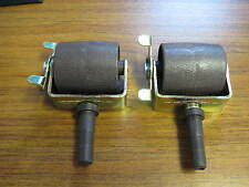 "2 Large Locking Bedframe Caster Wheels 2-1/8"". Socket Sleeve Inserts Included"