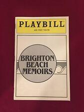 Brighton Beach Memoirs ~ 46th St. Theatre Playbill ~ June 1985