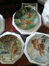 """""""Cool Cats"""" Collector Plate Unused """"Sovereigns of the Wild"""" set of 3"""