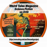 Weird Tales Comic Magazine Horror  Suspense  Pulp Fiction PDF Thriller Scary DVD