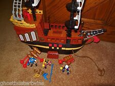RET FISHER PRICE IMAGINEXT MEDIEVIL VIKING PIRATE SHIP BOAT VESSEL PLAYSET lot