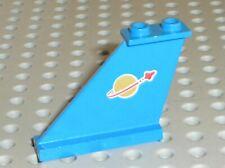 LEGO Blue Tail Classic Space Logo Both Sides Ref 2340p90 / 2340pb001 Set 6883