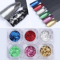 Nail Art Glitter Sequins Irregular Colorful Nail Flakes  Mixed Silver