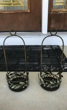 """2 PartyLite Garden Lites 14"""" Hanging Candle Holders. Comes With Hangers & Screws"""