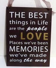 Love & Memories  Inspirational  Wall Plaque (New)