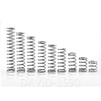 1.0mm Wire Dia. 6mm - 16mm Outside Dia. Compression Spring 304 Stainless Steel