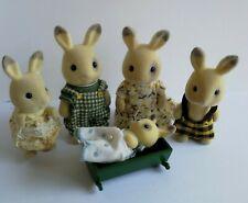 Sylvanian Families Vintage Figures Rare Corntop Rabbit Family 1989