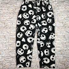 The Nightmare Before Christmas XL Black White Jack Fuzzy Sleep Lounge Pants