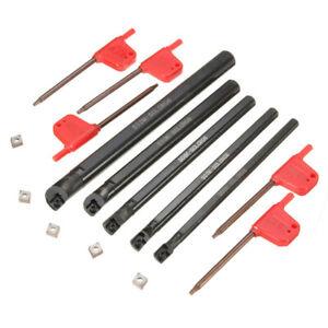 5pcs SCLCR 6/7/8/10/12mm Lathe Boring Bar Tunring Tool 5pcs CCMT0602 Insert AU