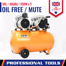 60db Air Compressor Mute Oil Free 50L Quiet Direct Motor Workshop Home Garage