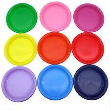 30 Teller rund 22 cm verschiedene Farben Plastik Plaste Kunststoff Einwegteller
